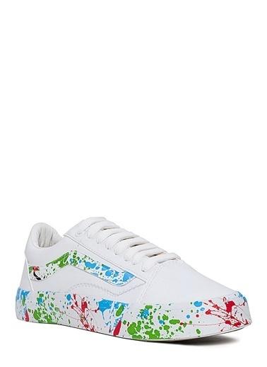Sole Sisters Spor Ayakkabı Beyaz/Mavi - Narcelli Beyaz
